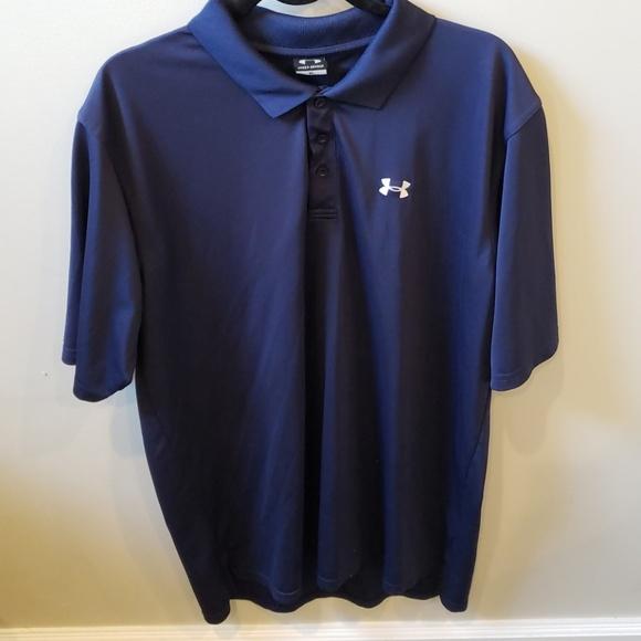 Under armour navy golf polo shirt. Mens XL